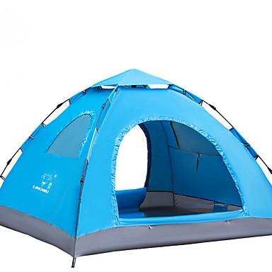 LINGNIU® 3-4 Personen Zelt Einzeln Camping Zelt Einzimmer Automatisches Zelt Warm Wasserdicht Sonnenschutz für Camping & Wandern <1000mm