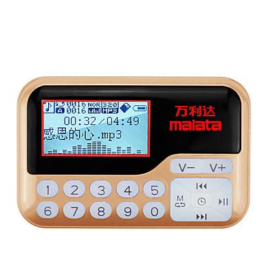 T01 FM راديو محمول ساعة منبهة مشغل MP3 بطاقة TFWorld Receiverذهبي أحمر