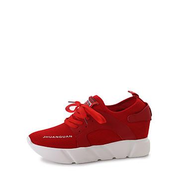 Damen Schuhe Atmungsaktive Mesh Frühling Herbst Komfort Flache Schuhe Walking Flacher Absatz Runde Zehe Schnürsenkel für Normal Schwarz