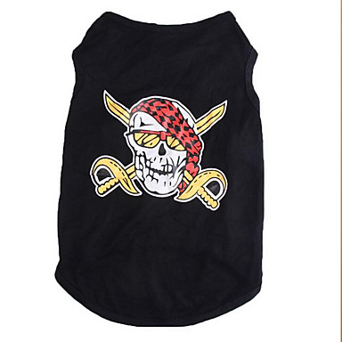 Dog Shirt / T-Shirt Dog Clothes Skull Cotton Costume For Pets Summer Men's / Women's Casual / Daily
