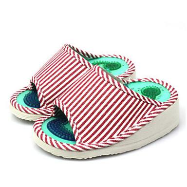 Damen Schuhe Leinwand Sommer Komfort Slippers & Flip-Flops Für Normal Rot
