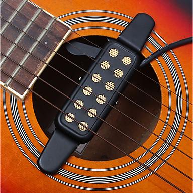 ammattilainen Sound Hole Transducer Pickup 12 Hole Kitara Akustinen kitara Klassinen kitara Metalli Hauska Musical Instrument Varusteet
