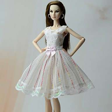 Dresses Princess Dresses For Barbie Doll Poly/Cotton Lace Dress For Girl's Doll Toy