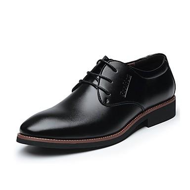 Férfi cipő Bőr Tavasz Ősz Formai cipő Kényelmes Félcipők Fűző mert Hétköznapi Hivatal és karrier Fekete Barna