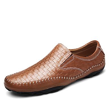 Férfi cipő Bőr Ősz / Tél Kényelmes Papucsok & Balerinacipők Fekete / Barna / Kék / Party és Estélyi