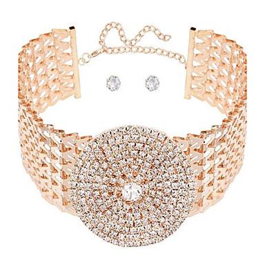 Damen Kreisförmig Sexy Liebe Einstellbar überdimensional Halsketten Strass Aleación Halsketten . Hochzeit Party Formal