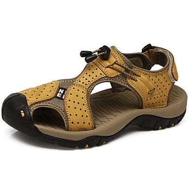 Men's Nappa Leather Summer / Fall Comfort Sandals Upstream Shoes Light Brown