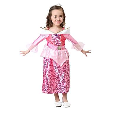 Einteilig/Kleid Prinzessin Märchen Fest/Feiertage Halloween Kostüme Vintage Kleider Halloween Karneval Mädchen Elastan