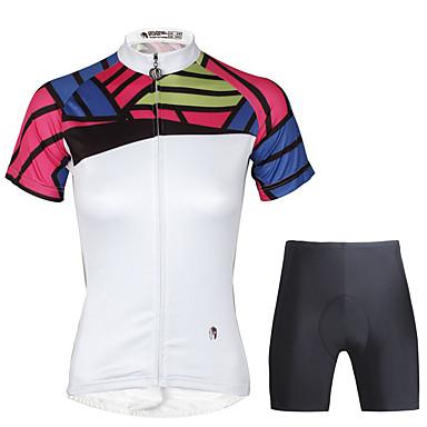 ILPALADINO للمرأة كم قصير جورسيه الدراجة مع الشورت - أسود دراجة هوائية مجموعات الثياب, 3D وسادة, سريع جاف بوليستر, 100 ٪ بوليستر, تيريليني