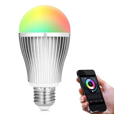 9W 900lm E27 Smart LED Glühlampen A60(A19) 18 LED-Perlen SMD 5730 WiFi Infrarot-Sensor Abblendbar Lichtsteuerung APP-Steuerung