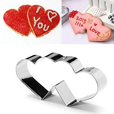 Valentin szerelmes szív a szív alakú cookie vágó, rozsdamentes acél