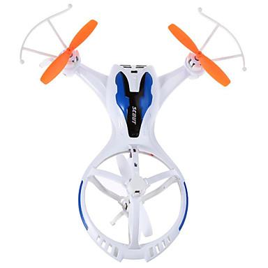 RC Drone TKKJ M71 4 Kanal 2.4G Uten kamera Fjernstyrt quadkopter LED Lys Fjernstyrt Quadkopter USB-kabel Skrutrekker Blader