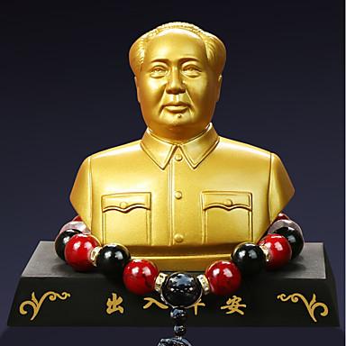 Diy autóipari díszek elnöke mao szobor buddha gyöngyök autó medál&Díszítő gyantát
