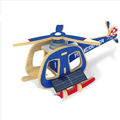 Napelemes játékok / 3D építőjátékok / Fejtörő Repülőgép / Helikopter Napelemes / DIY Fa Klasszikus Gyermek Ajándék
