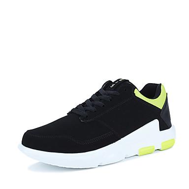 للرجال أحذية PU ربيع خريف مريح أحذية رياضية جزمات متوسطة دانتيل إلى رياضي فضفاض الأماكن المفتوحة أسود أسود وأبيض أسود/أحمر أسود/أخضر