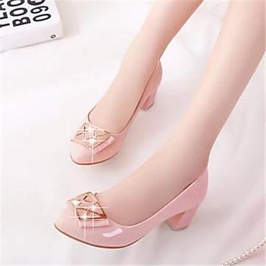 Damen Schuhe Lackleder Frühling Herbst Komfort Loafers & Slip-Ons Für Normal Schwarz Leicht Rosa