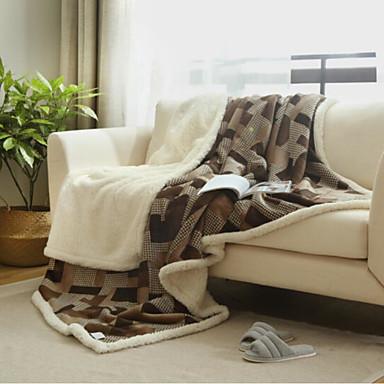 Flanell, Bedruckt Geometrisch Baumwolle Decken