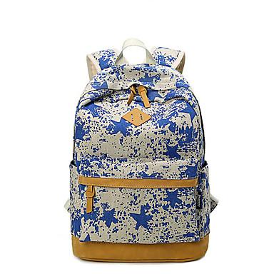 للنساء أكياس كل الفصول قماش حقيبة ظهر إلى فضفاض أزرق