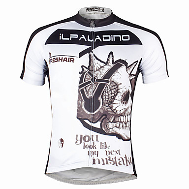357aca2b32fe ILPALADINO Ανδρικά Κοντομάνικο Φανέλα ποδηλασίας Νεκροκεφαλές Ποδήλατο  Αθλητική μπλούζα Μπολύζες Γρήγορο Στέγνωμα Αθλητισμός Πολυεστέρας ...