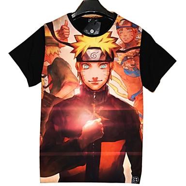 Inspiriert von Naruto Cosplay Anime Cosplay Kostüme Cosplay-T-Shirt Cartoon Design Kurzarm Top Für Unisex