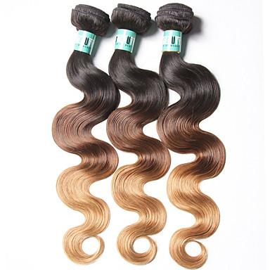 Brazil haj Hullámos haj Emberi haj sző 3 darab Ombre