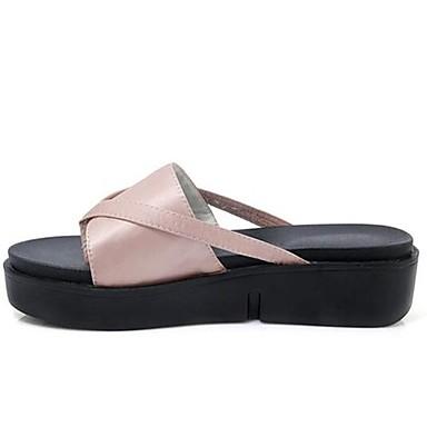 Damen Schuhe Seide Sommer Komfort Sandalen Für Normal Schwarz Grün Rosa