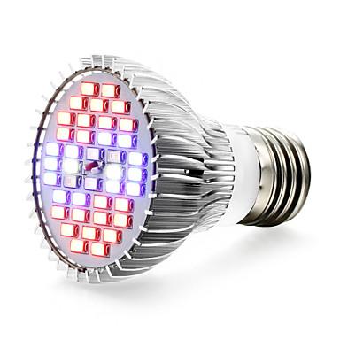 1pc 650lm E27 Voksende lyspære 40 LED perler SMD 5730 UV Blå Rød 85-265V