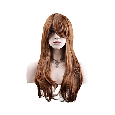 Synthetic Wig / Cosplay & Costume Wigs Natural Wave Synthetic Hair Wig Women's Long Capless