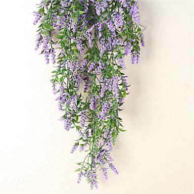 1 ramură Polistiren Plastic Albastru Deschis Flori Perete Flori artificiale