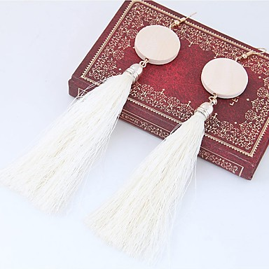 Women's Tassel Drop Earrings - Tassel, Fashion Red / Green / Pink For Daily Casual