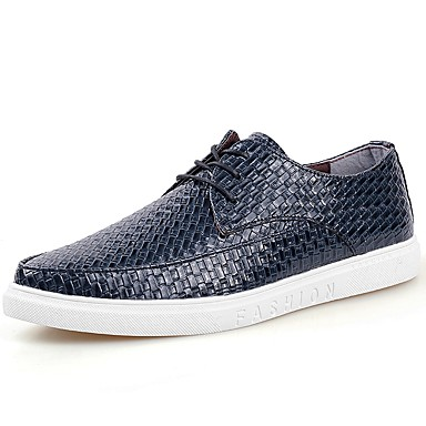 Men's Patent Leather Spring / Fall Comfort Sneakers White / Black / Blue / Party & Evening