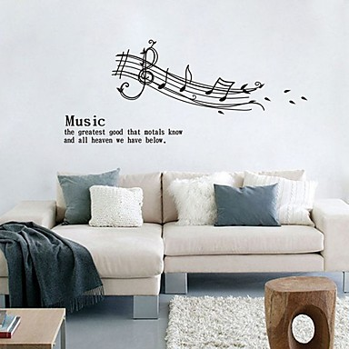 Fashion Shapes Words & Quotes Wall Stickers Plane Wall Stickers Decorative Wall Stickers, Plastic Home Decoration Wall Decal Wall Window