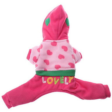 Dog Hoodie / Jumpsuit Dog Clothes Heart Cotton Costume For Pets Summer Men's / Women's Casual / Daily