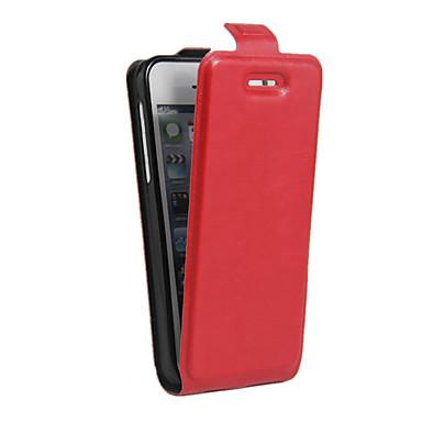 Corpo Completo Entrada de Cartão / À Prova de Impacto / Resistente ao Pó Cor Única Couro Ecológico Macio Flip Leather Case Capa Para Apple