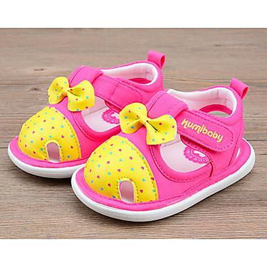 Mädchen Schuhe Baumwolle Sommer Komfort Lauflern Flache Schuhe Für Normal Fuchsia Rosa Leicht Rosa