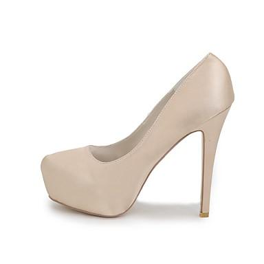 rond Aiguille de Chaussures Eté Champagne mariage 06177683 Satin Ivoire Basique Bout Escarpin Printemps Bleu Chaussures Femme Talon f7xvRR