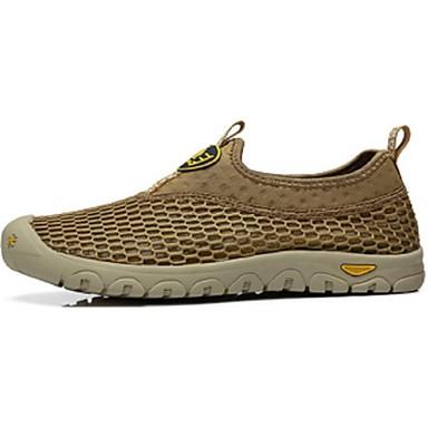 Herren Schuhe Tüll Frühling Herbst Komfort Leuchtende Sohlen Loafers & Slip-Ons Walking Für Normal Gelb Marinenblau