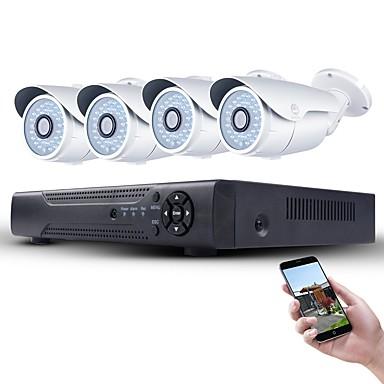 jooan® 1080p poe biztonsági rendszer 4db 2mp hálózati IP kamera és 4ch 1080p cctv nvr támogatás onvif