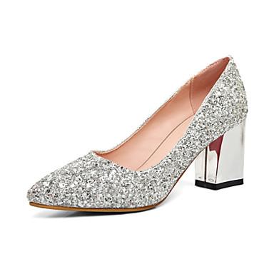 3d3a2ddee67fe Femme Paillette Automne Confort   Nouveauté Chaussures à Talons Talon  Bottier Bout pointu Dorée   Argent   Rouge   Mariage   Soirée   Evénement    Habillé ...