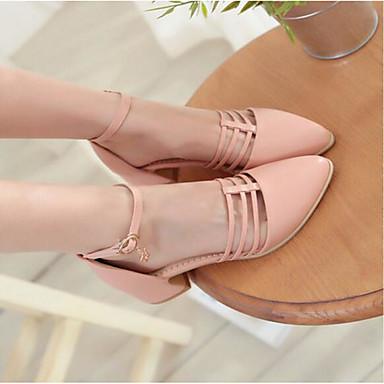 Damen Schuhe PU Sommer Komfort Sandalen Für Normal Rosa Mandelfarben