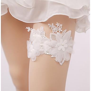 Csipke Esküvő Wedding Garter  -  Hamis gyöngy Rátétek Harisnykötők