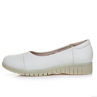 Damen Schuhe PU Sommer Komfort Loafers & Slip-Ons Für Normal Weiß