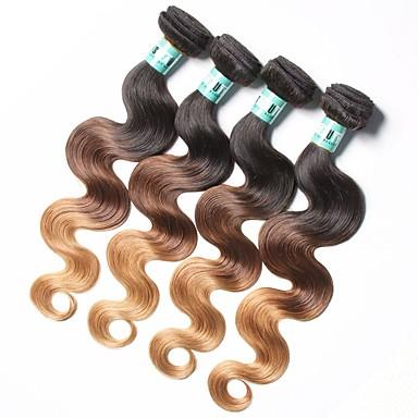 Indiai haj Hullámos haj Emberi haj sző 4 darab Ombre