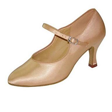 billige Toppsalg-Dame Dansesko Silke Moderne sko Spenne Sandaler Kubansk hæl Kan spesialtilpasses Svart / Brun / Naken / Ytelse / EU40