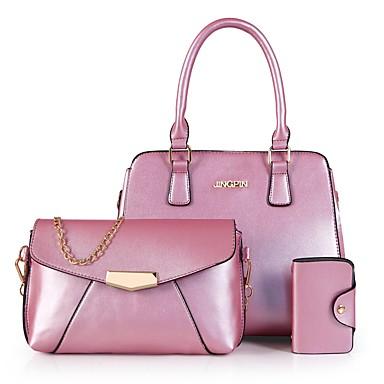 Damen Taschen PU Bag Set 3 Stück Geldbörse Set Quaste für Normal Büro & Karriere Draussen Ganzjährig Grün Weiß Schwarz Rote Rosa
