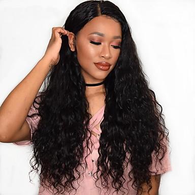 Remy haj Csipke Paróka Hullámos / Hullám Paróka 180% Természetes hajszálvonal / Afro-amerikai paróka / 100% kézi csomózású Női Közepes / Hosszú Emberi hajból készült parókák / Mély hullám