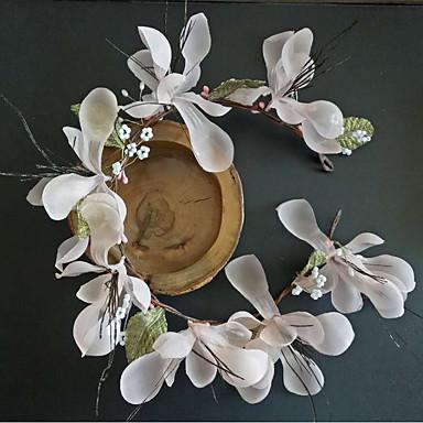 Tüll Chiffon Spitze Stoff Seide Netz Stirnbänder Blumen 1 Hochzeit Besondere Anlässe Geburtstag Party / Abend Kopfschmuck