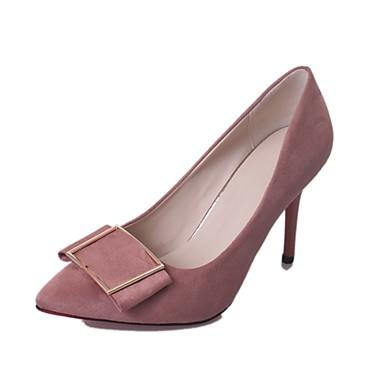 Női Cipő PU Nyár Könnyű talpak Magassarkúak Tűsarok Erősített lábujj mert Ruha Fekete Katonai zöld Rózsaszín