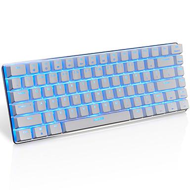 رخيصةأون ماوس ولوحات المفاتيح-AJAZZ AK33 USB سلكي لوحة المفاتيح الميكانيكية لوحة مفاتيح الألعاب الألعاب مضيء الخلفية أحادية اللون 82 pcs مفاتيح