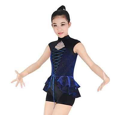 Jazz Outfits Performance Elastic Woven Satin / Lycra Ruffles Sleeveless Natural Fairies Leotard / Onesie / Cheerleader Costumes / Modern Dance